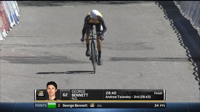 """Ganna quinto nella cronometro di Dibben; Bennett ribalta la classifica, ora ha 35"""" su Majka"""