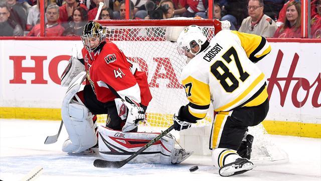 «Пингвинс» раскатали «Оттаву» в четвертой игре и сравняли счет в серии
