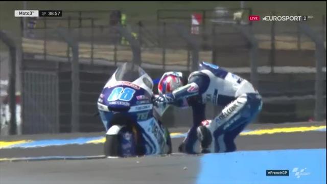 Eile geboten: Martin stürzt im Qualifying