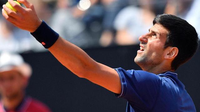 Del Potro-Djokovic juegan en Roma