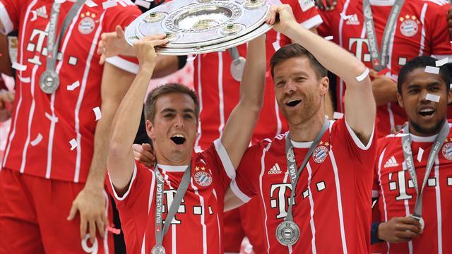 Xabi Alonso y Lahm se despiden del Bayern y del fútbol goleando y bajo una cerrada ovación