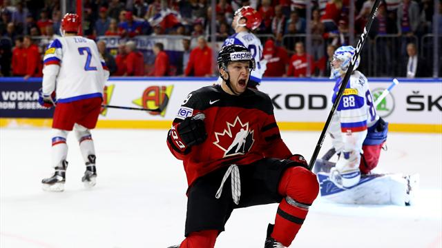 Le Canada foudroie la Russie et défendra son titre face à la Suède