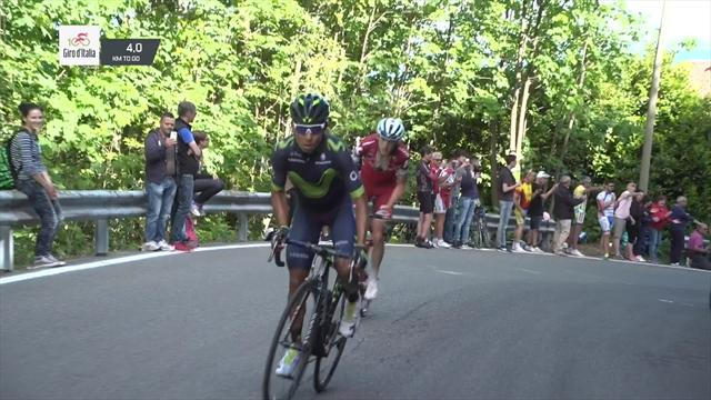 Quintana makes his move 3km from the summit