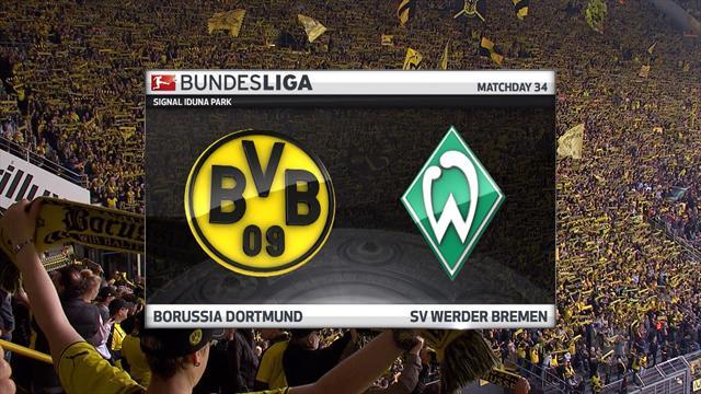 Bundesliga: Borussia Dortmund - Werder Bremen (Özet)