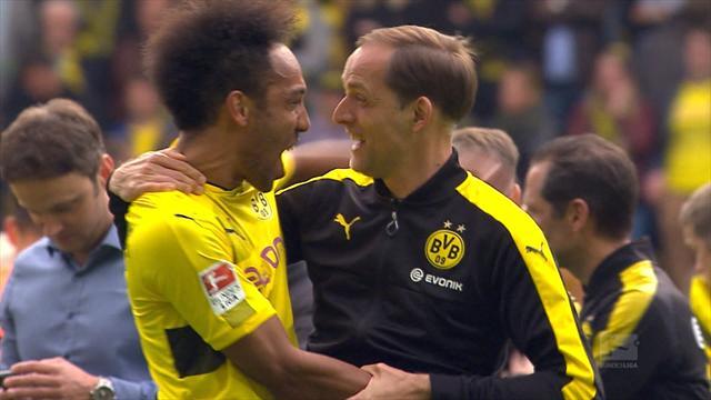 Highlights: Dortmund strike late to win seven-goal thriller