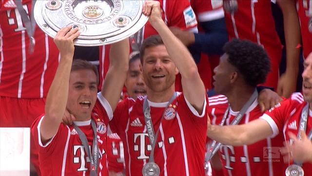 Highlights: Bayern lift trophy as Lahm, Alonso bid farewell