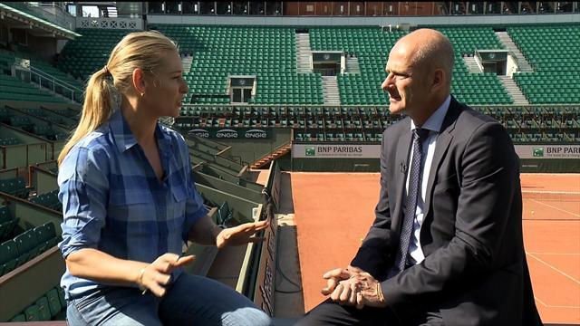 """Guy Forget, director de Roland Garros, a Eurosport: """"Sharapova cometió un error y lo está pagando"""""""