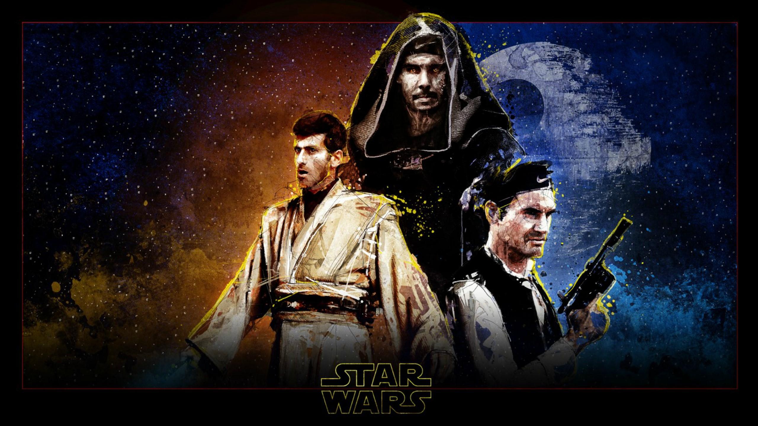 Star Wars: The emperor Nadal plus jedi Djokovic and captain Federer