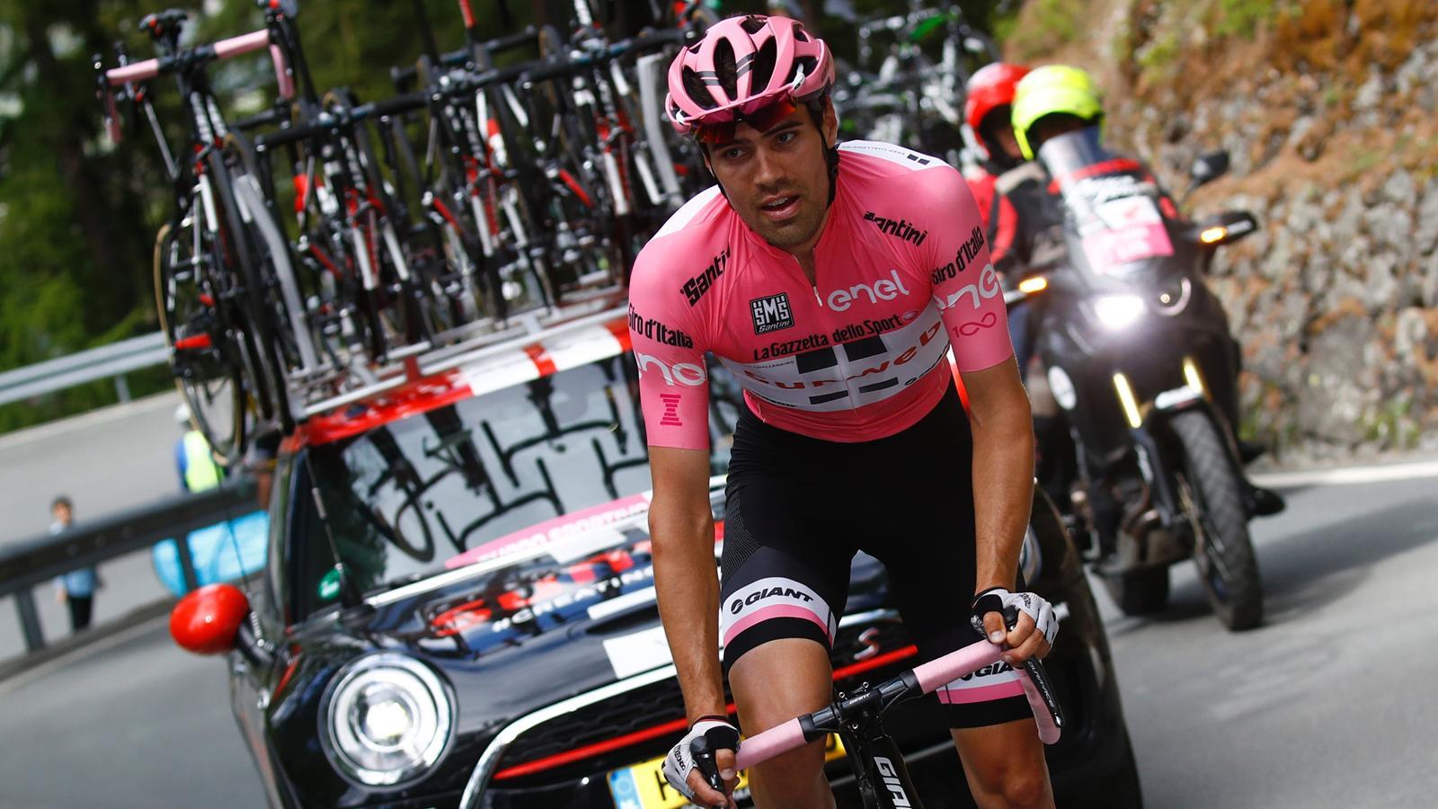 "Giro d'Italia 2017: Tom Dumoulin rettet auf der Königsetappe das Rosa Trikot nach ""Zwangspause ..."