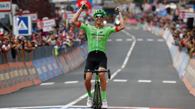 Pierre Rolland tok sin første etappeseier i Giro d'Italia