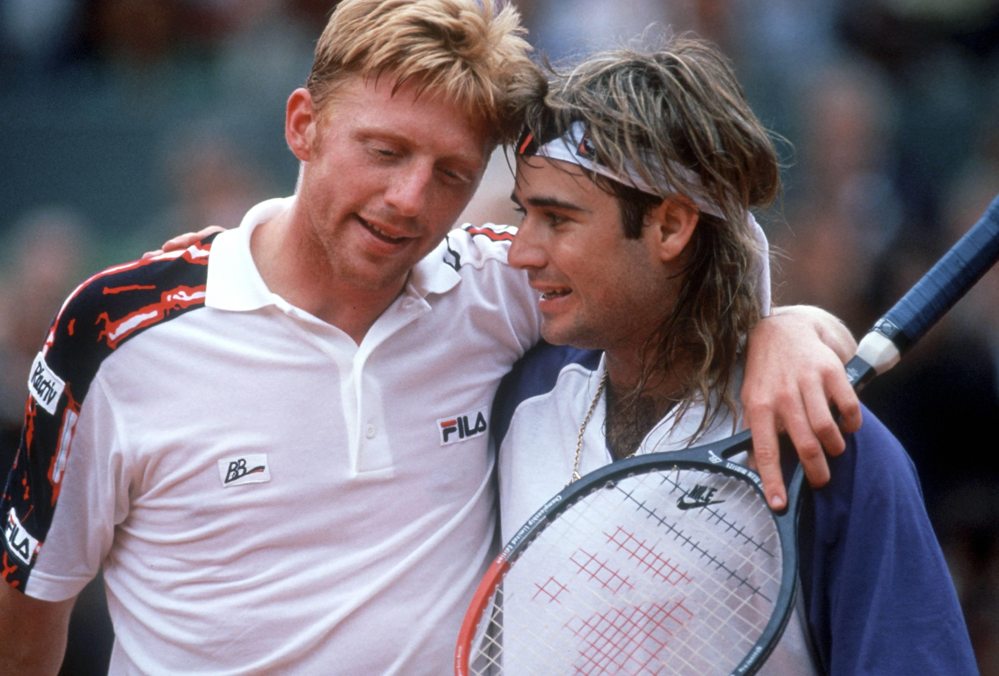 Boris Becker und Andre Agassi