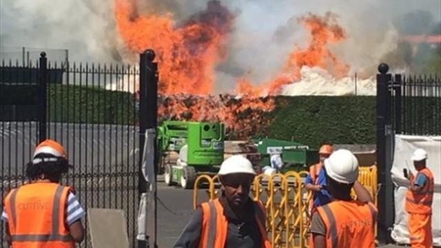 Натеннисных кортах Уимблдона произошел пожар