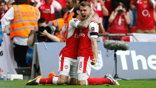 Ramsey urges Wenger to stay as Arsenal celebrate FA Cup win
