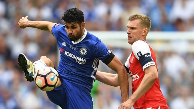 FA-Cup-Finale: Costa gleicht in Unterzahl für Chelsea aus