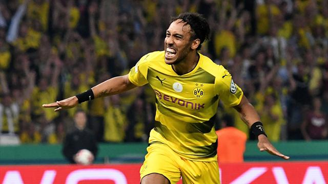 E. Frankfurt-B. Dortmund: Aubameyang decide la final de Copa con un penalti a lo Panenka (1-2)