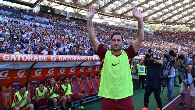 Totti : l'émouvant hommage du Stadio Olimpico