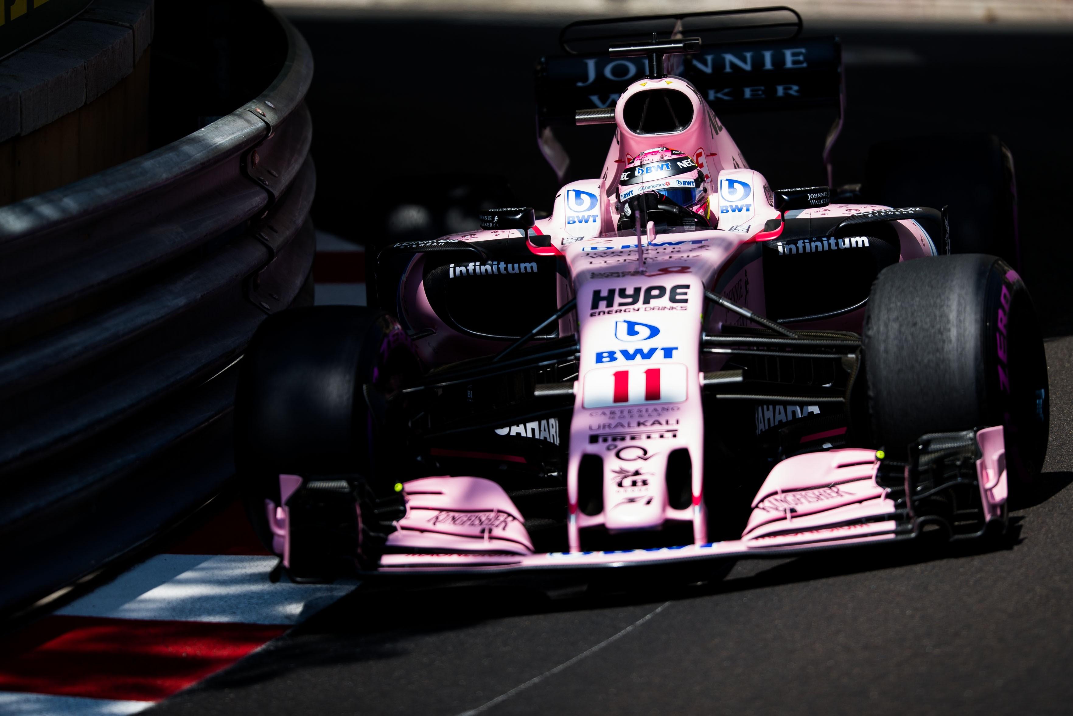Sergio Pérez (Force India) au Grand Prix de Monaco 2017