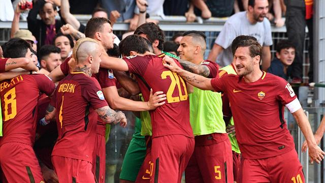 Perotti strikes late as Totti's last Roma game ends in drama
