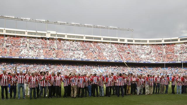 Nostalgia, clase y goles en el último partido del Calderón