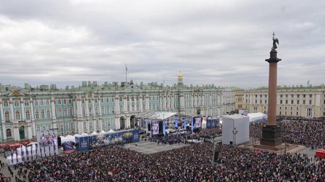 СКА провел чемпионский парад в северной столице