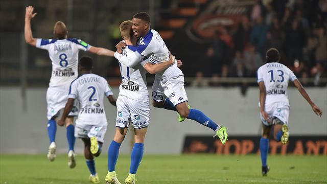 Troyes retrouve la L1, Lorient la quitte 11 ans après