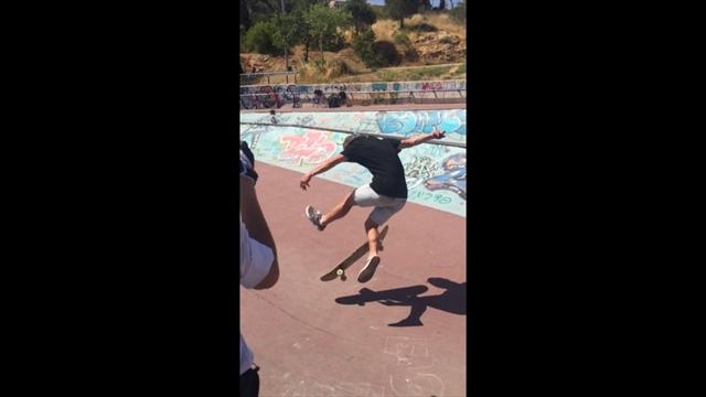 Un moment de skate au ralenti