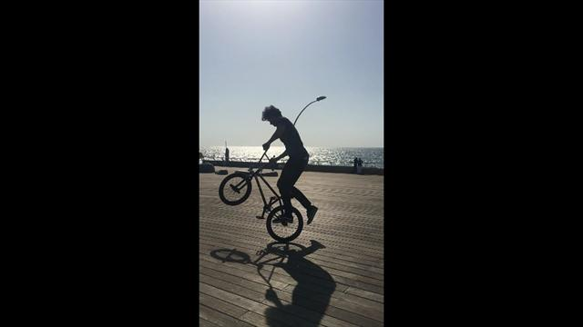 Riding at Tel Aviv seafront