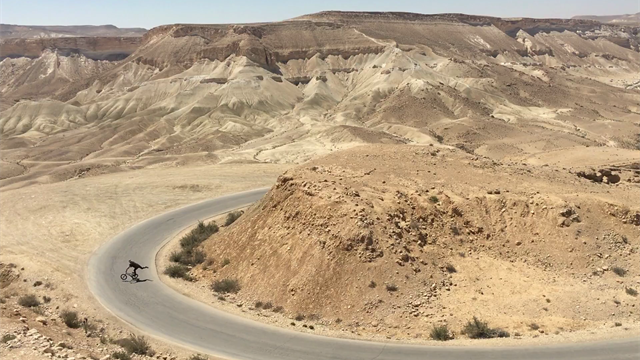 Priceless BMX experience in the Negev Desert