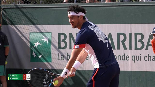 Roland Garros: Fognini al secondo turno