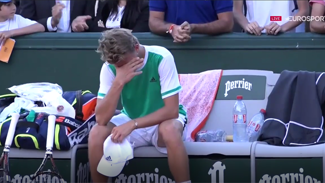 Défait par Monteiro en cinq sets, le jeune Français Muller n'a pu retenir ses larmes