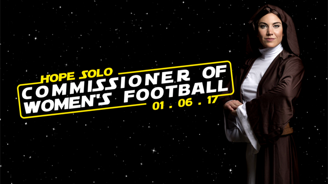 A new Hope! Introducing our Commissioner of Women's Football