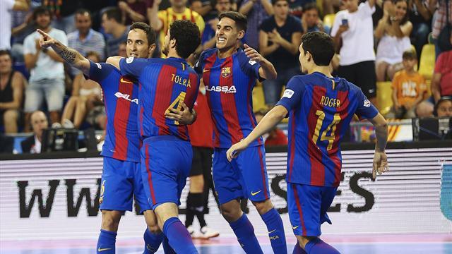 LNFS (playoffs), Barcelona-ElPozo Murcia: Forzando el desempate con una manita (5-1)