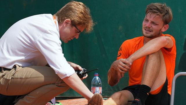 Men's round-up: Goffin out after nasty fall, Raonic through as Garcia-Lopez also retires
