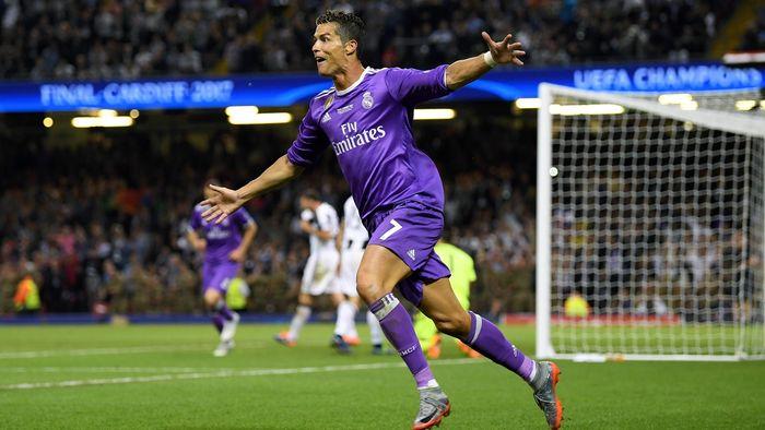 ceae650587e3b ... European Cup finals. Cristiano Ronaldo celebrates scoring his second  and Real Madrid s third against Juventus