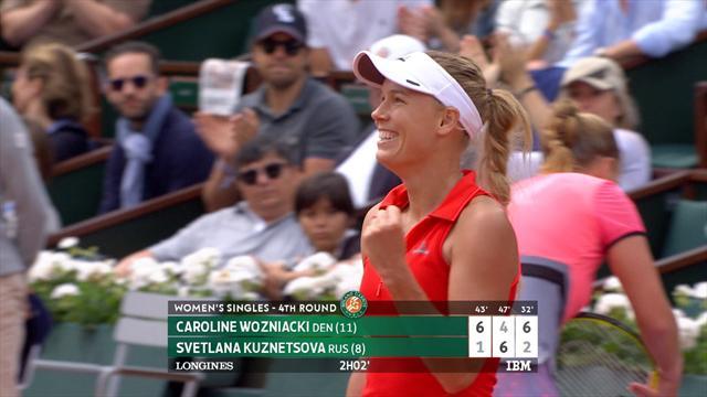 Høydepunkter: Wozniacki - Kuznetsova
