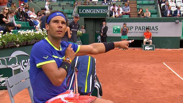 Rafael Nadal n'a pas aimé l'arbitrage de Carlos Ramos