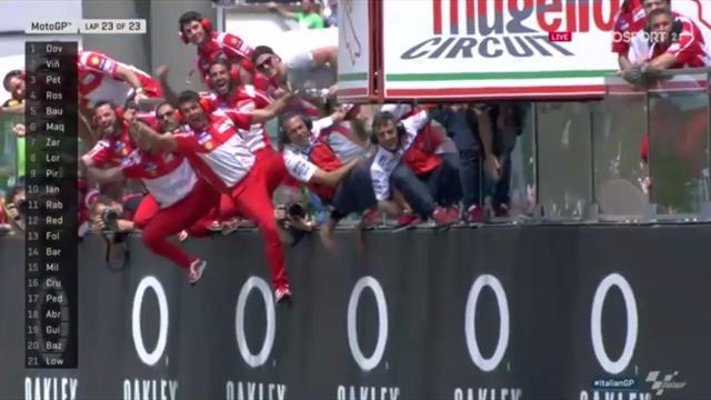 Dovizioso wins Italian Grand Prix for Ducati