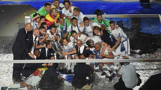 El fiestón del Real Madrid con su gente tras coronarse de nuevo rey de Europa