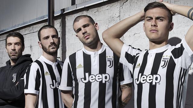 La Juve dévoile son nouveau maillot, avec son nouveau logo