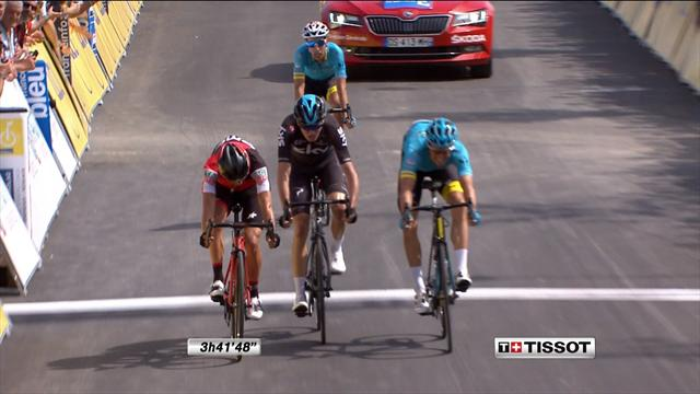 Fuglsang pips Porte and Froome in gutsy sprint finish