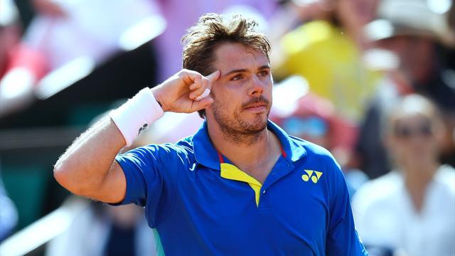 Roland Garros'ta ilk finalist Wawrinka