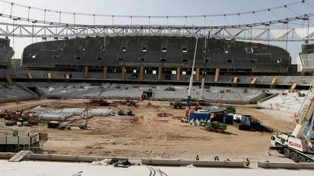 Hallaron una bomba de la guerra civil española en un estadio español