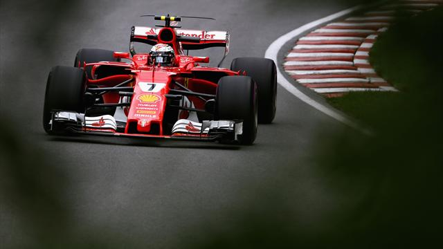 Prove libere 2: Kimi Raikkonen vola in ogni condizione, dietro Hamilton e Vettel