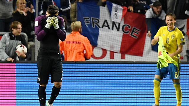 Сборная Швеции одержала волевую победу над командой Франции вотбореЧМ