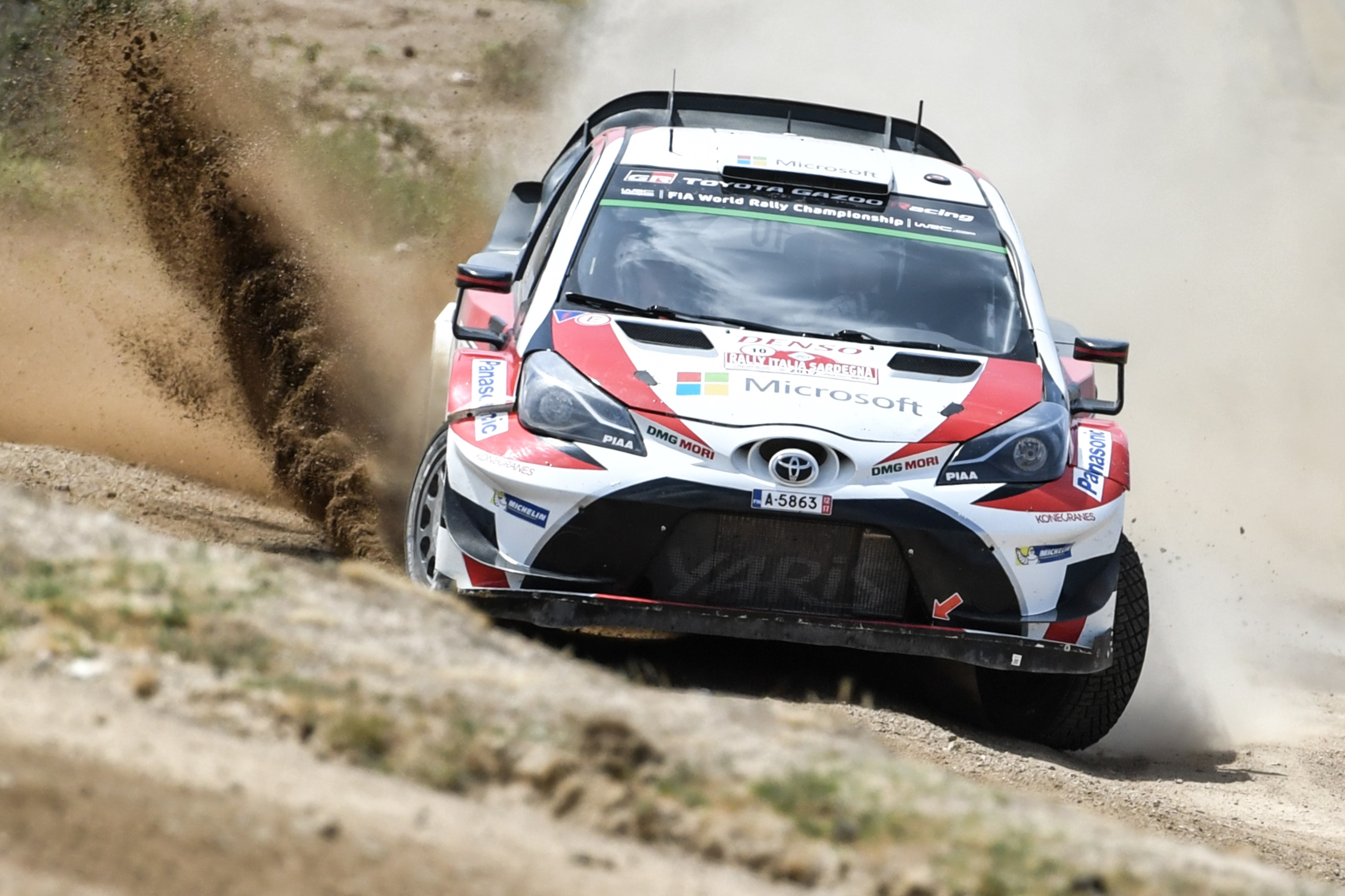 Jari Matti Latvala au Rallye de Sardaigne.