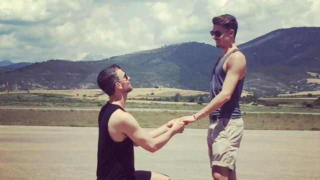 Фигурист Рэдфорд предложил руку исердце своему возлюбленному