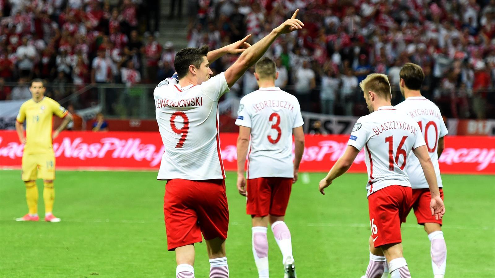 Qualifications mondial 2018 robert lewandowski vainqueur avec la pologne contre la roumanie - Vainqueur coupe du monde football ...