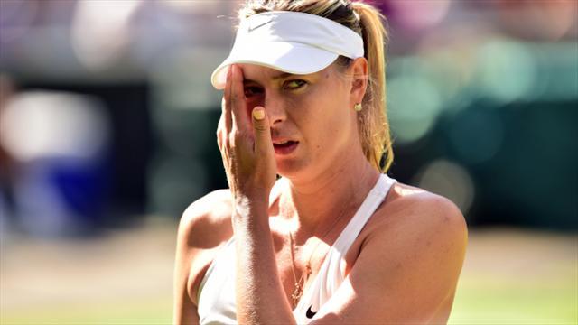 Sharapova, Wimbledon'da da yok