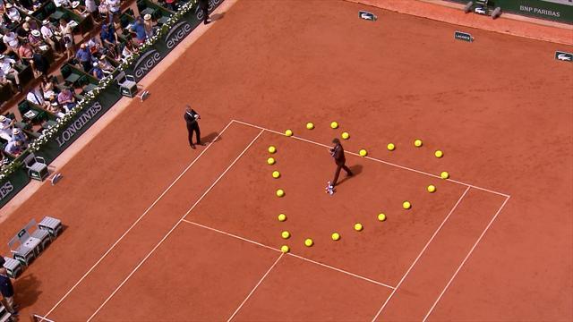 Il Roland Garros omaggia Guga Kuerten con un cuore davvero speciale