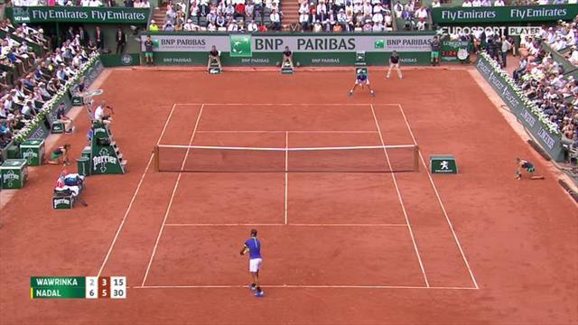 Nadals motstander knuser racketen etter å ha blitt knust